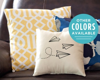 Paper Airplanes Decorative Pillow