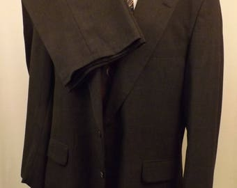 80s Vintage Strathmore Mens Suit Gray Worsted Wool Size 42 R