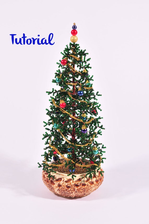 Little Russian Beaded Christmas Tree Tutorial 9 4 Inches