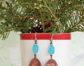 Yellowstone National Park penny earrings