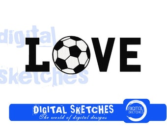 Soccer Machine Embroidery Design 5 Sizes