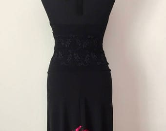 Tango Skirt with Satin Ruffles | Tango Clothes | Argentine Tango Outfits