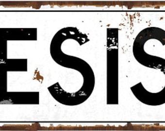 Resist Metal Street Sign, Motivational, Protest, Positive Living HB7785