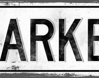 MARKET Metal Street Sign, Vintage, Retro    MEM2017