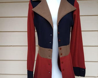 Vintage 1970's Women's Blazer Jacket Coat by Joshua Tree California
