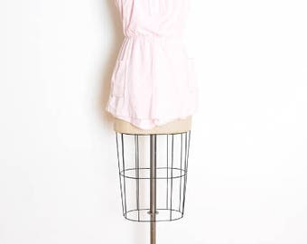 vintage 80s romper, terry cloth romper, strapless romper, pink romper, one piece, 80s playsuit, pink playsuit, 80s outfit, 80s clothing XS S