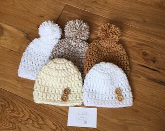 5 x Boy newborn Hats Crochet baby Hat Baby Boy Hat Newborn boy hat Newborn Boy beanie New born Boy outfit Baby Boy Beanie Newborn Boy gift