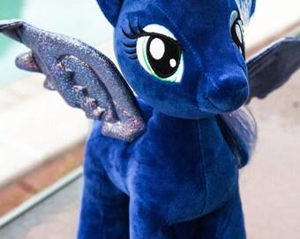 Princess Luna Plush-Luna Plush-Light Up Luna-My Little Pony-Fan Art-Upcycle