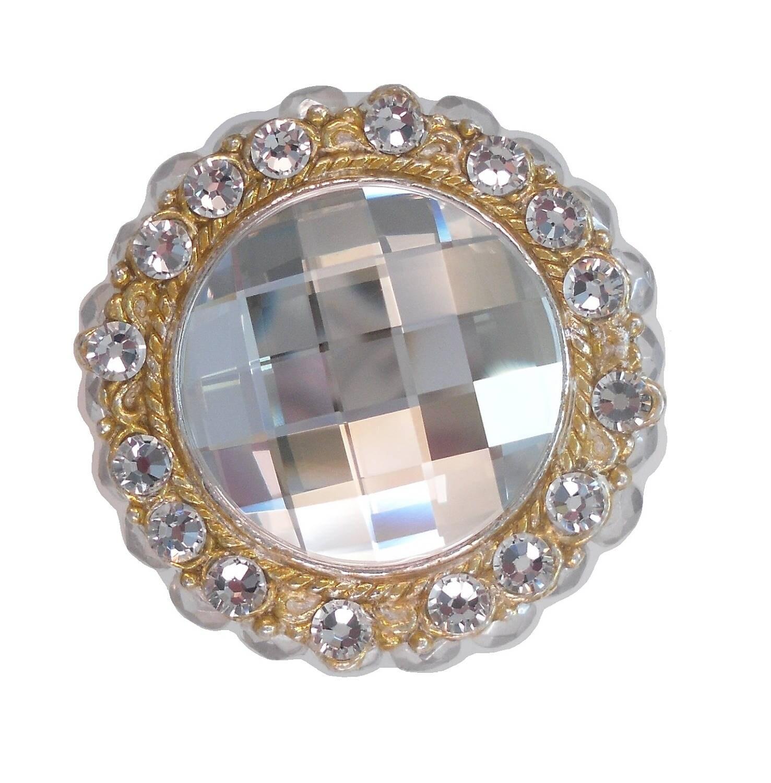 Unique decorative cabinet knob swarovski crystal bath for Crystal bureau knobs