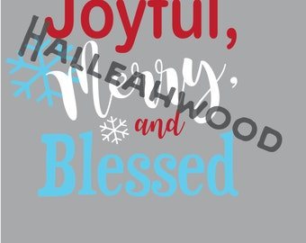 Joyful, Merry, and Blessed DIGITAL DESIGN