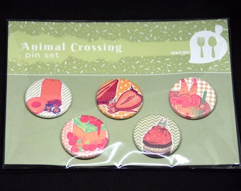 Animal Crossing Food Pin Set