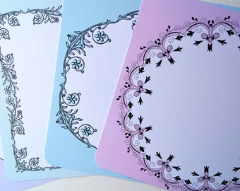 12 Square Correspondence Cards