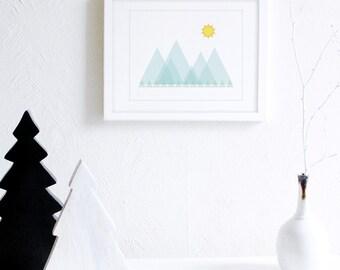 Woodland Nursery Printable Art, Minimal Nursery Art, Geometric Nursery Print, Pastel Nursery Decor, Gender Neutral Art, Baby Room Art