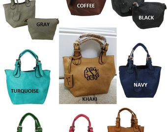 MiniCrossbody Handbag/  Monogrammed / NOW in NINE COLORS!!!!!