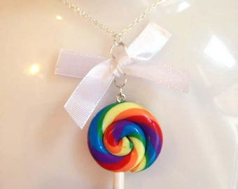 My girl lollipop necklace by Toxic Heart Designs from the sweet shop collection  / Lolly - lolly necklace - sweet necklace - candy.