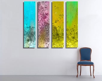 4 Colorful Pirce Metal Wall Art Contemporary Art Decor