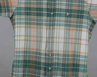Polo Ralph Lauren Vintage 1980s Madras Cotton Shirt, size L
