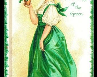 Ellen Clapsaddle St. Patricks Day Girl or Lass Postcard