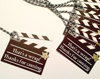 Movie Party Favor Tags | Movie Party | Hollywood Theme | Movie Night Party | Gift Tags | Favor Tags)