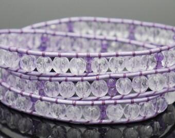 Amethyst bead wrap bracelet