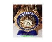 1977 Ezra Brooks decanter American Legion Denver - Full Size porcelain Handcrafted whiskey bottle