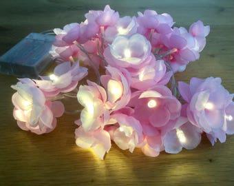 30 Cherry blossom fairy lights - led lights 30 led fairy lights - Flower string lights