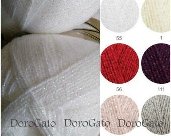 Alize Sal Simli yarn, metallic thread yarn, Sparkle yarn, glitter yarn, Soft,  Alize Şal, crochet yarn, knitting supplies, shiny yarn