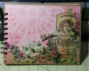 8 x 6 1/4 Mini Album, The Paper Studio, Kirby Teesdale Mini Album