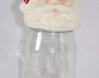 Santa Claus Candy Jar Vintage 1984 Handmade FREE SHIPPING