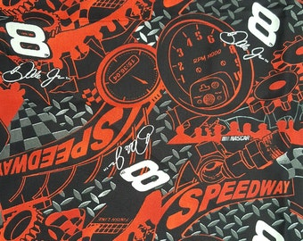 Dale Earnhardt fabric- 2003 NASCAR fabric #9966-Cotton novelty fabric-Race car fabric sold by the 1/2 yard