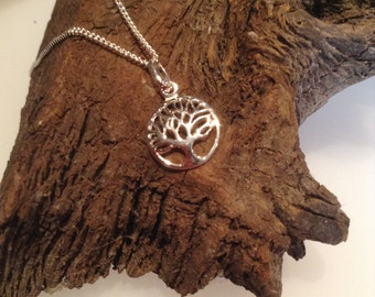 Sterling Silver Tree of Life Necklace including Chain, Sacred Tree of Life Necklace, Tree of Life Charm Necklace