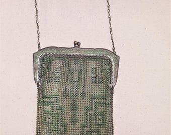 Whiting and Davis Art Deco Mesh Handbag, Vintage