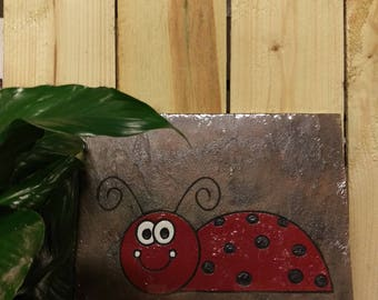 Lady Bug Red Garden Stone