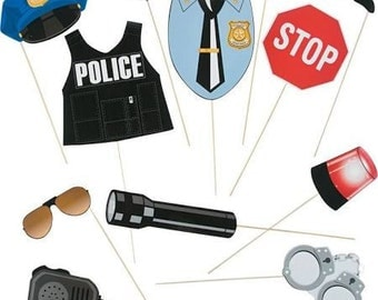 Police Party Props / photo booth props / party props