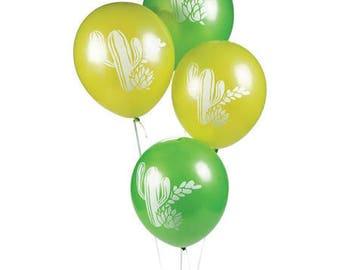 12/Cactus Party Latex Balloons / cactus theme/ cactus party / fiesta party/ fiesta
