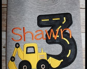 Construction 3rd Birthday Shirt