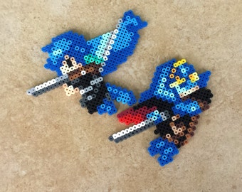 Chrom and Lucina - Fire Emblem: Awakening Perler Bead Sprites