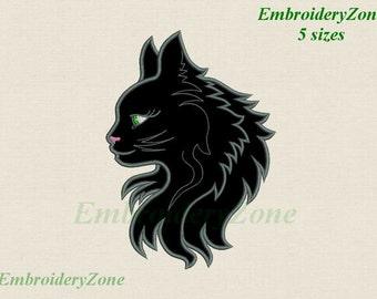 Magic black cat Machine embroidery design Applique Kitty Cat embroidery designs, cat embroidery, cat applique.5 sizes Hoop 4x4 5x7 6x10 7x11