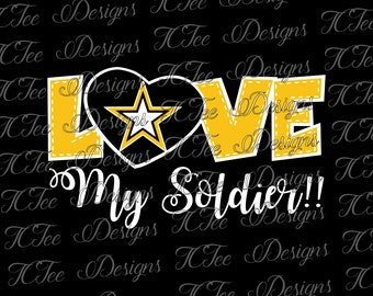 Love My Soldier - United States Army - SVG Design Download - Vector - Clip Art - Cut File