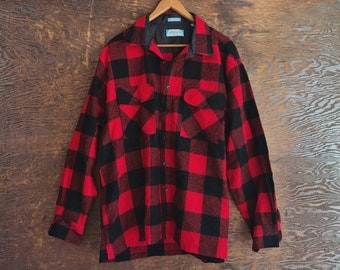 Vintage 80's checkered button up