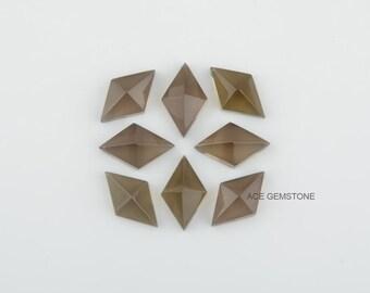 Smoky Quartz Gemstone-Diamond Pyramid Shape 10x16 mm Gemstone-Wholesale Loose Gemstone-Cut Loose Gemstones-5Pcs