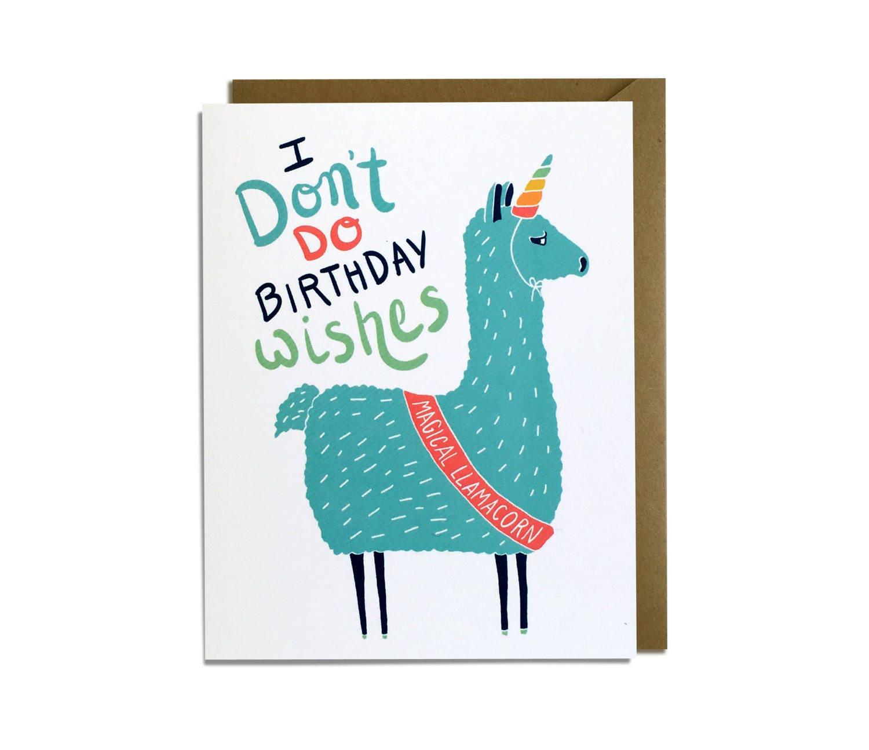 Funny Happy Birthday Cards For Boyfriend Sarcastic Birthday: Funny Birthday Card Sarcastic LLama Unicorn Llamacorn