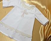 Baptism shirt for godson Baptism Christening baby cotton shirt Christening gown baptism baby outfit baptism boys outfit baptism girls outfit