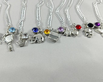 Until Dawn Character Inspired Mini Jewel & Charm Necklaces - All 8 Main Characters + Beth and Hannah