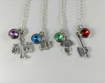 The Adventure Zone Inspired Mini Jewel & Charm Necklaces - Taako, Magnus, Merle, The DM