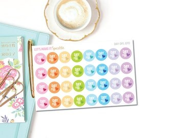 Day Off Planner Stickers // 070