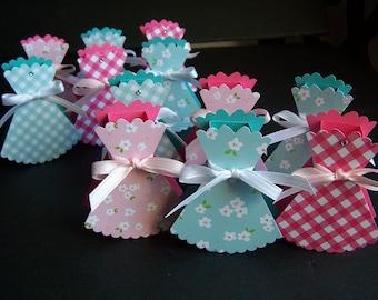 Birthday Treat Box SET of 12 for Lip Balms - Girl Birthday Party Favor Box - Lip Balm Holders - Lip Balm Party Favors - Birthday Dress Favor