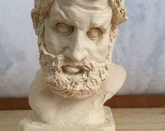 Custom Sculpture Bust Plaster Portrait Optional Patina Personalized Allegory Hercules Example
