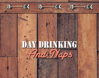 Day Drinking and Naps Decal | Yeti Decal | Yeti Sticker | Tumbler Decal | Car Decal | Vinyl Decal
