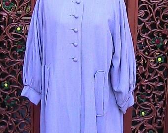 Lavender linen swing coat